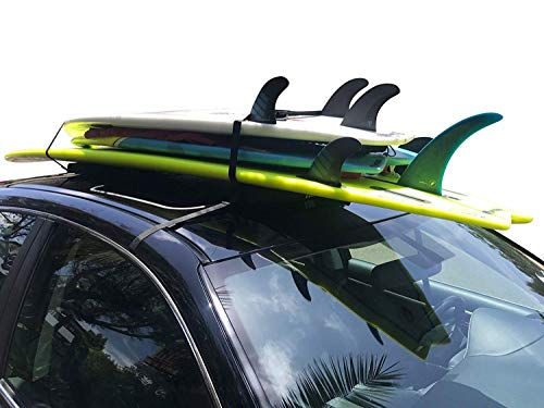 COR Surf Universal Surfboard Car Soft Roof Rack Pad for Multiple Boards | Surf and Paddleboards | with Storage Bag (28 Inches)