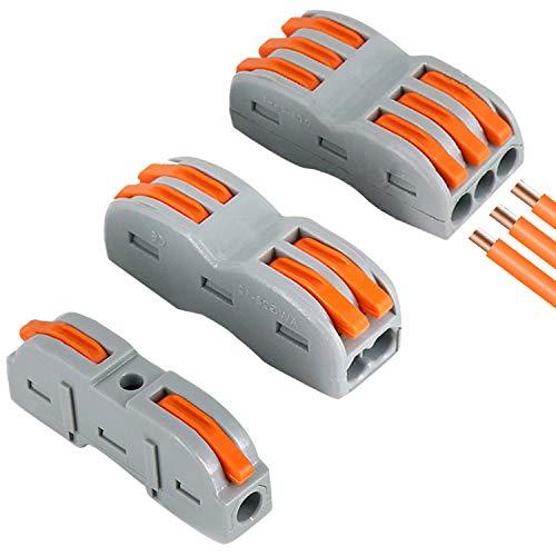 30Pcs Bornes de Connexion Automatique,Borne de connexion électrique,Connecteurs Electriques Rapide avec Levier,Connecteur à Ecrou à Levier pour Une Variété de Tailles de Fils