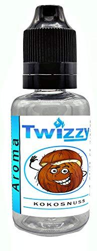 30ml Twizzy® XL Kokosnuss Aroma | Aroma für Shakes, Backen, Cocktails, Eis | Aroma für Dampf Liquid und E-Shishas | Flav Drops | Ohne Nikotin 0,0mg
