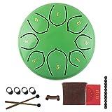 Tambor de lengua de acero estilo flor de loto, 6 pulgadas de mano Pan percusión tambor D ...