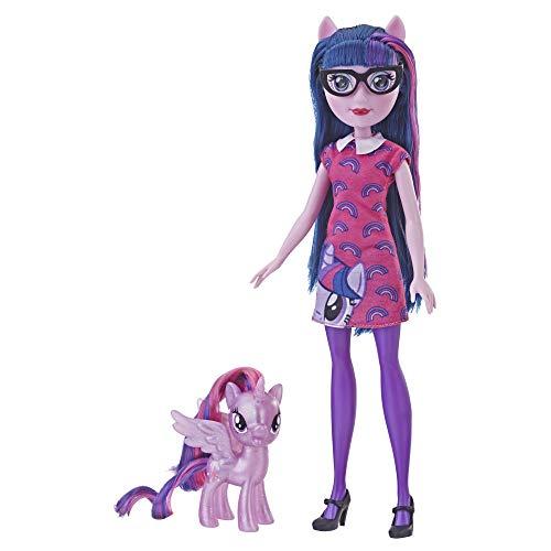 My Little Pony Equestria Girls Through The Mirror Twilight Sparkle - Muñeca de Moda de 11 Pulgadas con Figura de Pony púrpura, Traje y Zapatos extraíbles, a Partir de 5 años