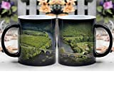 Amymami Personalized Gifts Heat Changing Magic Coffee Mug - Dordogne France Sky Clouds Mountains Scenic 2
