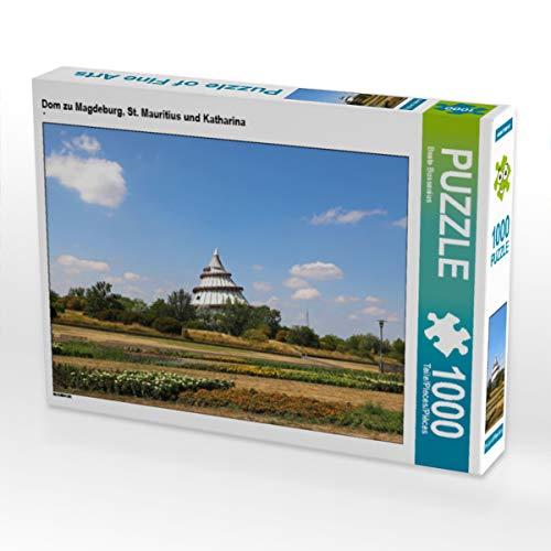 CALVENDO Puzzle Dom zu Magdeburg, St. Mauritius und Katharina 1000 Teile Lege-Größe 64 x 48 cm Foto-Puzzle Bild von Fotine