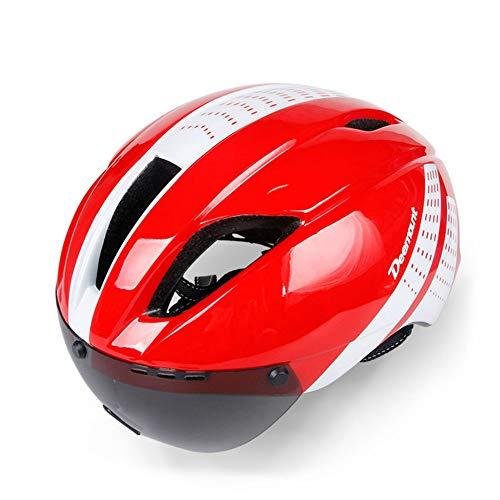 Casco ciclismo CXL mountain road bike bici uomo e donna casco da equitazione esterno integrato maschera occhiali cappello duro