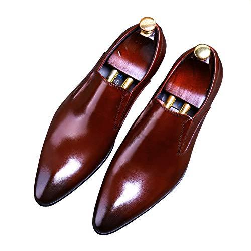 YOWAX Zapatos de Cuero para Hombre de los Zapatos de Vestido de...