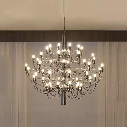 YUQIYU Lámpara por un salón moderno diseño del hogar de la lámpara de iluminación Comedor Cocina Luminaria 30/50 luces de oro (Lampshade Color : Gold)
