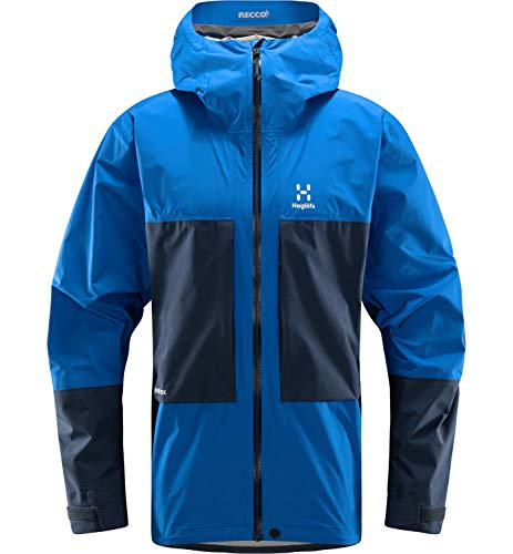 Haglöfs Hardshelljacke Herren ROC Sheer GTX Jacket wasserdicht, Winddicht, atmungsaktiv Storm Blue/Tarn Blue M M