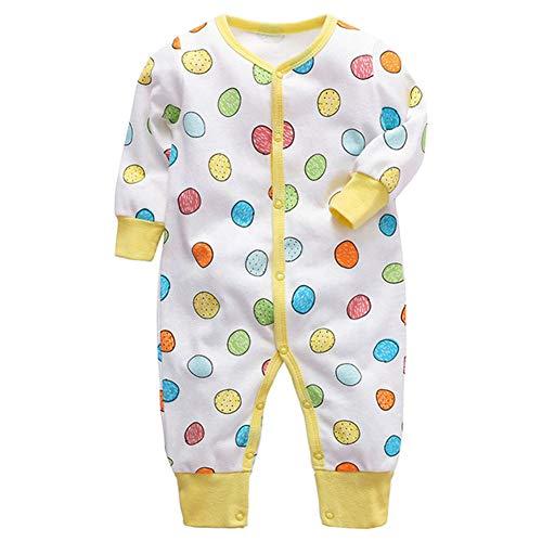 Baby Jongens Meisjes Unisex rompertjes, Newborn Infant katoenen kleding Cartoon Print Jumpsuits met lange mouwen nachtkleding voor kinderen peuters (0-2 jaar)
