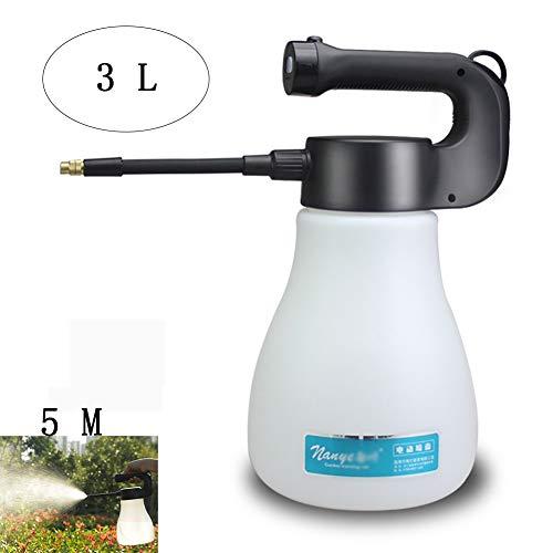 Yajun Elektrisches Sprüher Tragbarer Druck Sprayer Automatisches Wasser Sprühgerät Topf Düsennebel Küchenpflanzen Strahlpumpe Hand Gartengeräte 3L,White
