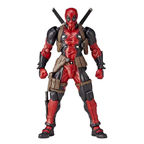 WQLESO Avengers Deadpool X-Men Action Figure Giocattoli per Il Viso modificabili Modello di Personaggio Mobile Regalo per Bambole per Bambini,Deadpool