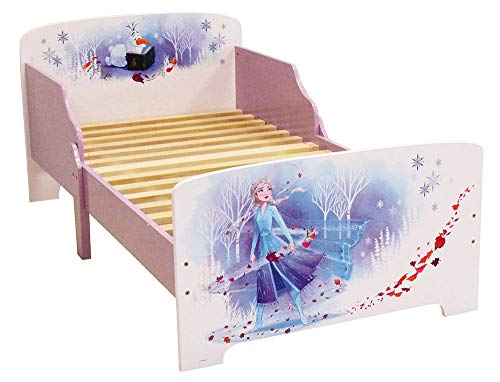 Fun House 713185 Disney Eiskönigin Bett 140 x 70 cm, Kinderbett, Besonderheiten: Violett, 1 Person