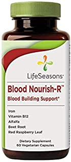 Blood Nourish-R - Iron Deficiency Supplement - Supports People Dealing with Fatigue, Paleness & Dizziness - No Constipation - Boost Blood Building - Contains Iron (50mg), Vitamin B-12 - (60 Capsules)