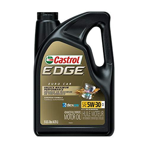 Castrol 03559 Edge 5W-30 C3 Advanced Full Synthetic Motor Oil, 5 Quart, 3 Pack