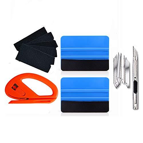 IKAAR Car Vinyl Wrap Window Tint Tools Kit, Car Window Film Tinting Tool Kit, Vinyl Wrap Installation Tools for Vehicle Glass, Auto Film Tinting Scraper Kit Car Squeegee Set