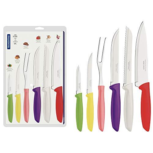 Tramontina 23498/916 Juego de cuchillos de cocina, acero ino