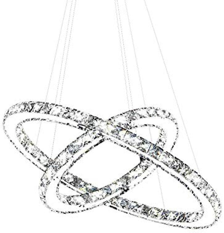 SAILUN 63W Warmwei LED Kristall Design Hngelampe Zwei Ringe Deckenlampe Pendelleuchte Kreative Kronleuchter Lüster LED Deckenleuchte
