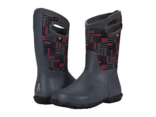 BOGS York Waterproof Rainboot Rain Boot, Phaser 2-Dark Gray, 3 US Unisex Little Kid