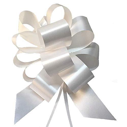 Sumshy - 30 Lazos Blancos para Coche, Boda, decoración para Coche, para Navidad, Boda, Fiesta, Regalo de cumpleaños
