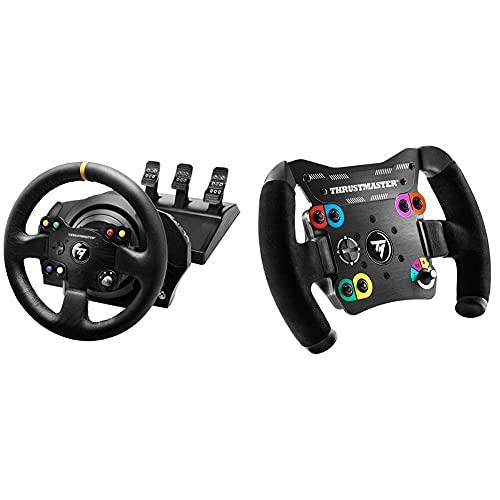 Thrustmaster TX Racing Wheel Leather Edition - Force-Feedback-Rennsimulator für Xbox One und PC & TM Open Wheel: Abnehmbares Thrustmaster Lenkrad für die Performance in GT- und Einsitzer-Rennen