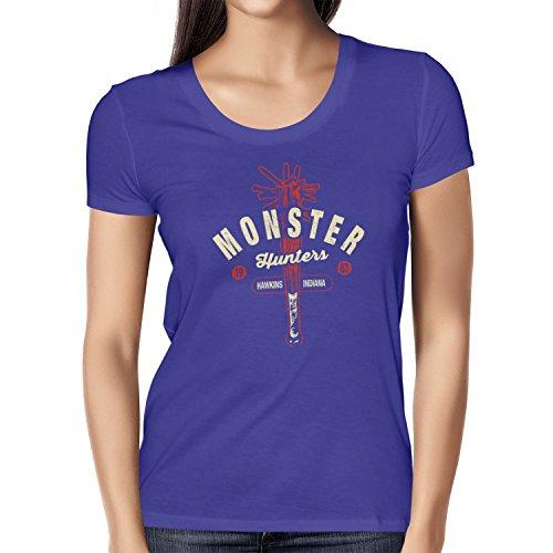 Texlab Damen Monster Hunter Hawkins Indiana-T-Shirt, Marine, S