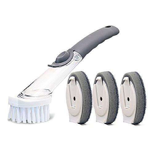 Leobtain Cepillo de Limpieza Automático con Lavado