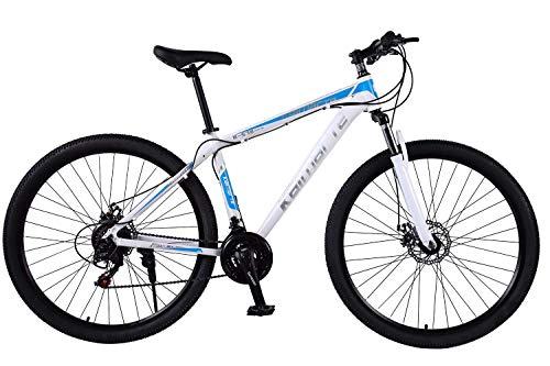 BIKE Mountain Bike,MTB Bicycle - 29 inch Men's, Alloy Hardtail Mountain Bike, Mountain Bicycle with Front Suspension Adjustable Seat,21/24/27 Speed White-27Speed,24Speed