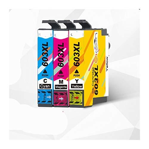 Cartucho de Tinta Cartucho de Tinta T603XL 603XL para EPSON XP-2100 XP-2105 XP-3100 XP-3105 XP-4100 XP-4100 XP-4105 WF-2810 WF-2830 Reemplace el Cartucho de Tinta (Color : 3PCS)