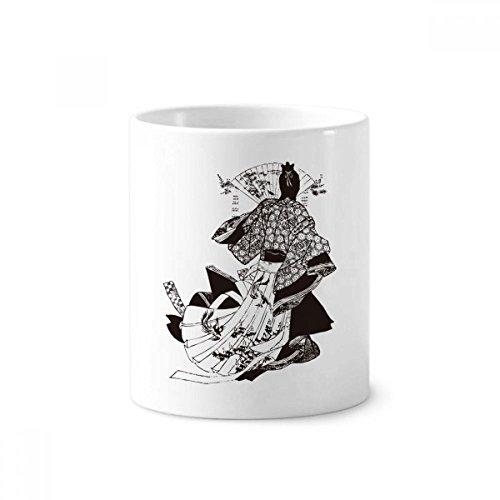 Japan Traditionele Cultuur Kimono Keramische Tandenborstel Pen Houder Mok Wit Cup 350ml Gift