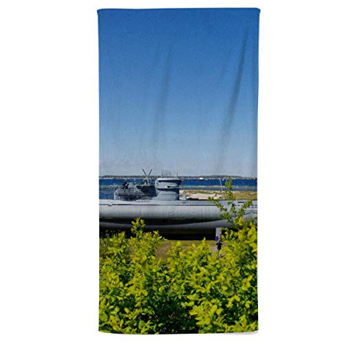 fotobar!style Duschtuch 70 x 140 cm U-Boot von Laboe