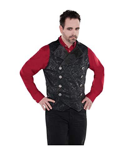 Horror-Shop Düstere Vampir Weste für Männer