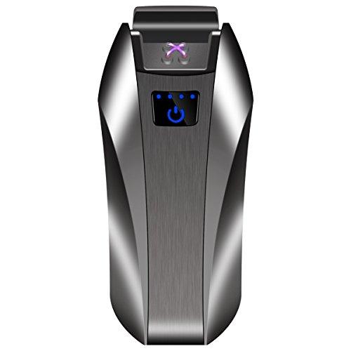 KIVORS 電子ライター USB 充電式 触感式点火 タッチセンサー プラズマ ダブルアークライター usbライター ガスオイル要らない 防風 防災