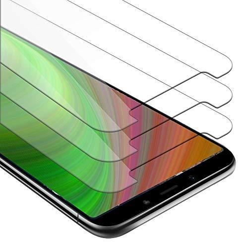 Cadorabo 3x Pellicola Protettiva per Xiaomi Mi A2 / 6X in ELEVATA TRASPARENZA - Pacco di 3 Vetro Temprato Blindato per Display 0,3mm con Angoli Arrotondati