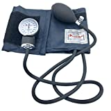 Professional Manual Blood Pressure Monitor - Medical Aneroid Sphygmomanometer with Carrying Case, Navy Blue