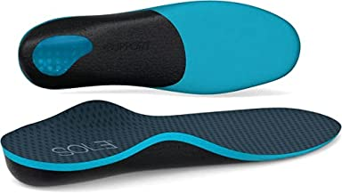All-New Plantar Fasciitis Orthotic Support Insoles - Athletic Running Work Shoe Inserts for Men & Women - Flat Feet, Pronation, Metatarsalgia, Fallen Arch, Heel Pain Relief
