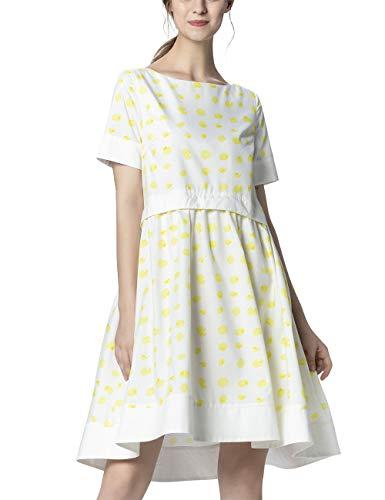 APART Damen Sommerkleid in Tupfen-Print, vanille-Creme, 36