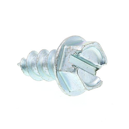 Prime-Line 9025687 Sheet Metal Screw, Self-Tapping, Slotted Hex Washer Head, #12 X 1/2 in, Zinc Plated Steel, Pack of 100
