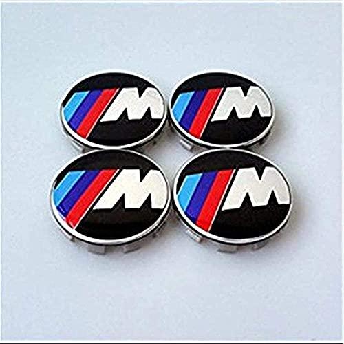4 Piezas Cubo Rueda Cubierta Central para BMW M PowerTech Sport, Polvo Insignia ModificacióN Estilo Cubierta Accesorio