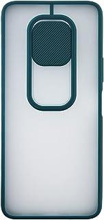 جراب خلفي طبقتين ضد الصدمات بغطاء لحماية الكاميرا، إطار من السيليكون، لهاتف انفينيكس نوت 7 - اخضر