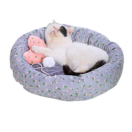 Qazxsw Pet Bed Cat Beds With Ball House Nest Cushion Thicken Mats Pad Cozy Soft Warm Kennel Beds
