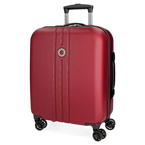 Movom Riga Maleta de cabina Rojo 40x55x20 cms Rígida ABS Cierre TSA 36L 3Kgs 4 Ruedas Dobles Equipaje de Mano