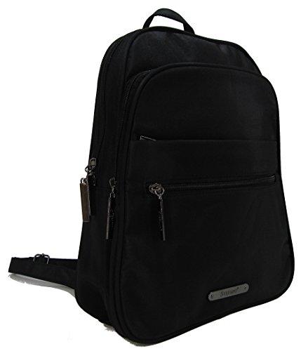 STEFANO moderner Frauen Rucksack Daypack Bodybag Schultertasche Cityrucksack Damen Tasche Verschiedene Modelle (M1 schwarz)