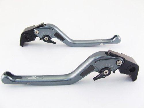 Strada 7 Racing Carbone Long Réglable Leviers Paire Gris pour Buell X1 Lightning