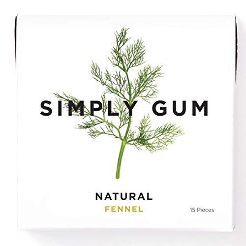 Simply Gum | Natuurlijke kauwgom | Venkel | Pak van zes (90 stuks totaal) | Plantaardig + aspartaamvrij + niet-ggo