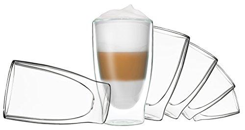 DUOS 6X 400ml doppelwandige Thermo-Gläser Cocktail, Latte Macchiato by Feelino