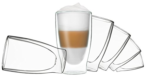 DUOS 6X 400ml doppelwandige Thermo-Gläser Cocktail, Latte Macchiato by Feelino