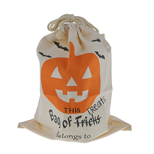 PETSOLA Halloween Party Treat Trick Baumwolle Canvas Tote Geschenktüte Kinder Kid Candy Bag - Fledermaus