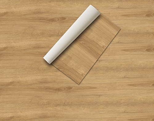 Klebefolie Holz und Steine Dekofolie Deko Folie Realistische Optik Möbelfolie Deko Vinyl (44 x 200 cm, Eiche Natur)