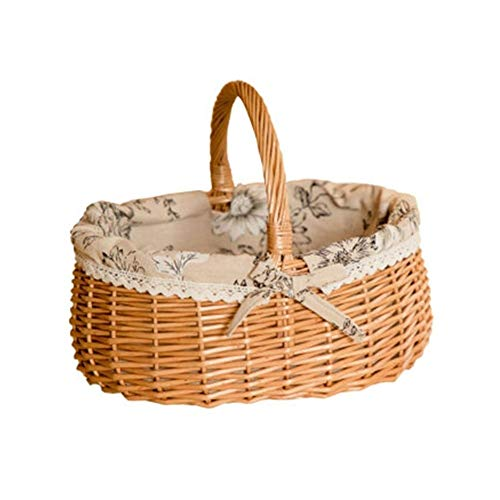 Great Features Of YINJIESHANGMAO Fruit Basket, Rattan Storage Basket, Bamboo Basket, Portable Basket...