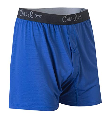 Comfortable Mens Boxers, Breathable Underwear, Soft Quick-Dry Boxers for Men (Medium, Cool Blue)