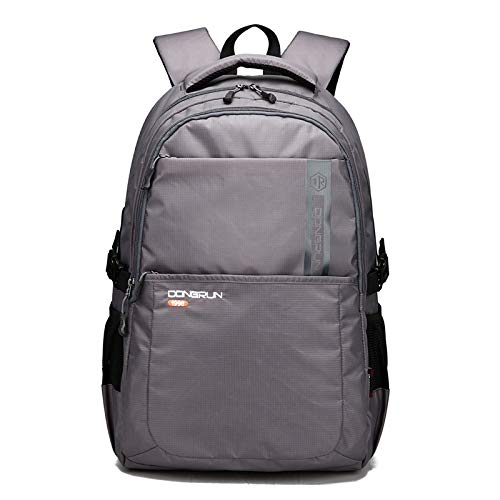 College Student School Bag, Multifunction Computer Bag, Korean Business Casual Backpack for Men and Women 51 * 34 * 24Cm 45L Gray
